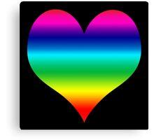 Coloured Heart Canvas Print