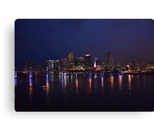Miami Nightscape Canvas Print