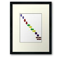Konami Code Framed Print