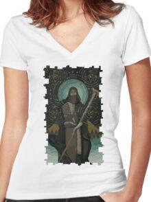 Solas Tarot Card 2 Women's Fitted V-Neck T-Shirt