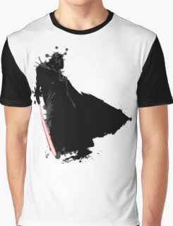 Cool Star Wars Darth Vader Ink Splatter Graphic T-Shirt