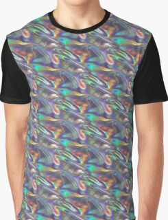 silver holographic Graphic T-Shirt