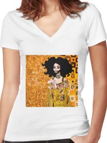 Conchita Wurst as Golden Adele Women's Fitted V-Neck T-Shirt