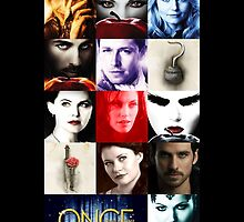 Once Upon a Time, emma swan, prince charming, snow white, hook, killian, rumpelstilskin, belle, red riding hood, red, season posters,  OUAT iphone case by sae37