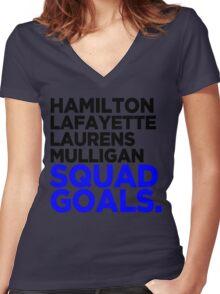 Hamilton - Squad Goals 2.0 Women's Fitted V-Neck T-Shirt