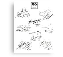 Girls' Generation (SNSD) Signature/Autograph Canvas Print