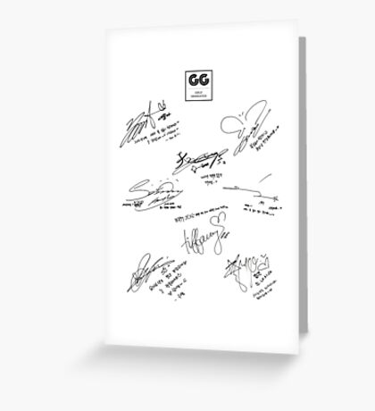 Girls' Generation (SNSD) Signature/Autograph Greeting Card