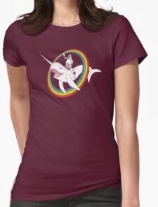 Narwhal Rainbow Womens Fitted T-Shirt