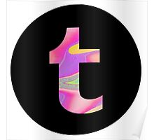 holographic tumblr logo Poster