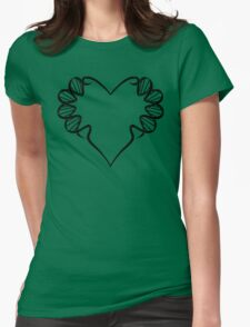 LOVE (Black Print) Womens Fitted T-Shirt