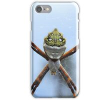Orb Weaver Spider on a Web iPhone Case/Skin