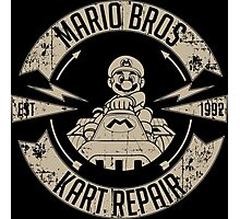 Mario Bros Kart Repairs Photographic Print