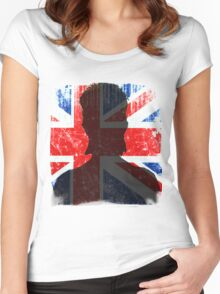 David Bowie Tribute Women's Fitted Scoop T-Shirt