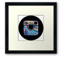 holographic instagram logo Framed Print