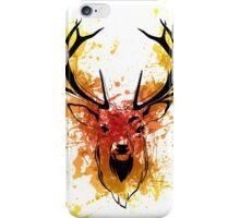 Red to Orange Watercolor Deer iPhone Case/Skin