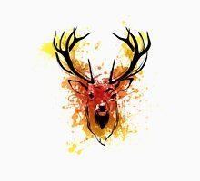 Red to Orange Watercolor Deer Unisex T-Shirt