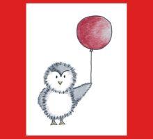 Penguin Red Balloon Baby Tee