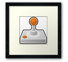 Controller/Joystick old school Framed Print