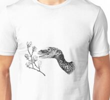 Sinornithosaurus and magnolia Unisex T-Shirt