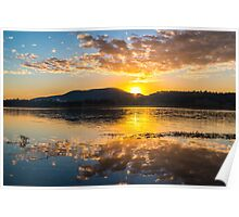 Colourful sunrise at Lake Moogerah in Queensland Poster