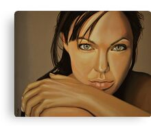 Angelina Jolie Voight painting Canvas Print
