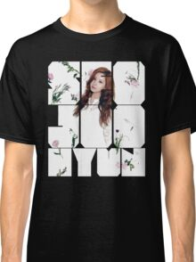 Girls' Generation (SNSD) Seohyun Flower Typography Classic T-Shirt