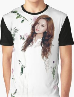 Girls' Generation (SNSD) Seohyun Flower Typography Graphic T-Shirt