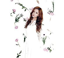 Girls' Generation (SNSD) Seohyun Flower Typography Photographic Print