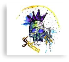 Day Dreamer Skull Canvas Print