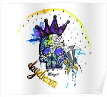 Day Dreamer Skull Poster