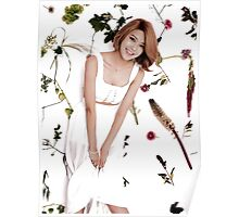 Girls' Generation (SNSD) Sooyoung Flower Typography Poster