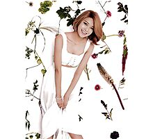 Girls' Generation (SNSD) Sooyoung Flower Typography Photographic Print