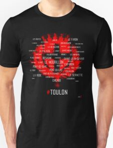 Toulon city Around the districts T-Shirt