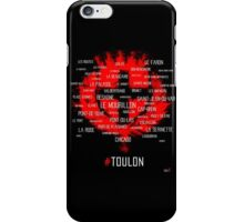 Toulon city Around the districts iPhone Case/Skin