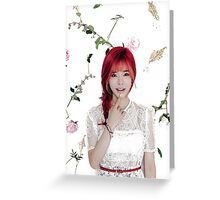 Girls' Generation (SNSD) Sunny Flower Typography Greeting Card