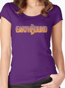 Earthbound Title Screen Women's Fitted Scoop T-Shirt