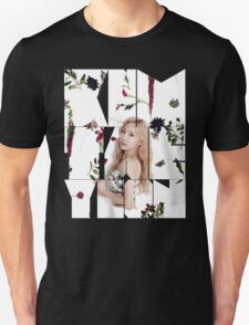 Girls' Generation (SNSD) Taeyeon Flower Typography Unisex T-Shirt