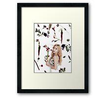 Girls' Generation (SNSD) Taeyeon Flower Typography Framed Print