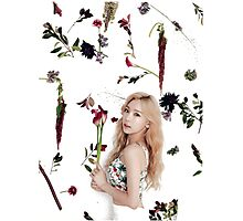 Girls' Generation (SNSD) Taeyeon Flower Typography Photographic Print