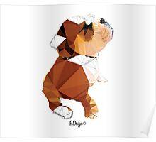Geometric Animal - Bulldog Puppy Poster