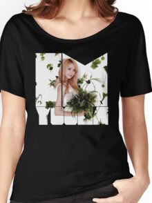 Girls' Generation (SNSD) Yoona Flower Typography Women's Relaxed Fit T-Shirt