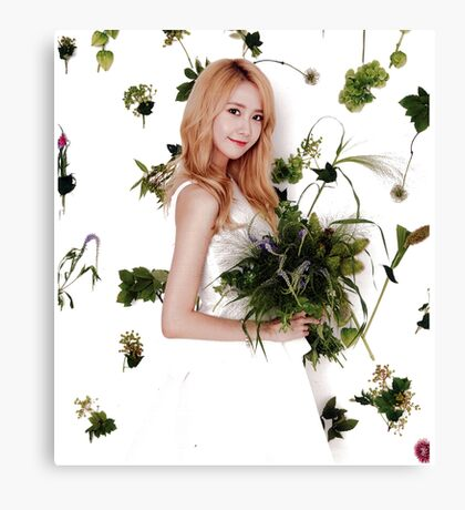 Girls' Generation (SNSD) Yoona Flower Typography Canvas Print
