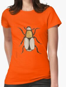 Cool Cute Bug Insect Drawing Womens Fitted T-Shirt