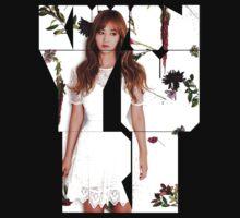 Girls' Generation (SNSD) Yuri Flower Typography by ikpopstore