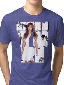 Girls' Generation (SNSD) Yuri Flower Typography Tri-blend T-Shirt