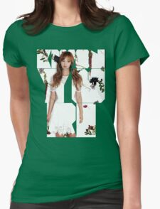 Girls' Generation (SNSD) Yuri Flower Typography Womens Fitted T-Shirt
