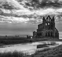 Whitby Abbey in Monochrome by KathyMPhoto