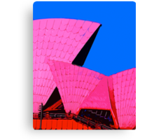 Tickled Pink Sydney Opera House Canvas Print