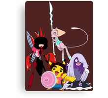 Steven Universe Meets Pokemon Canvas Print