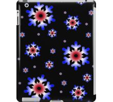Red, White, and Blue Snowflakes iPad Case/Skin